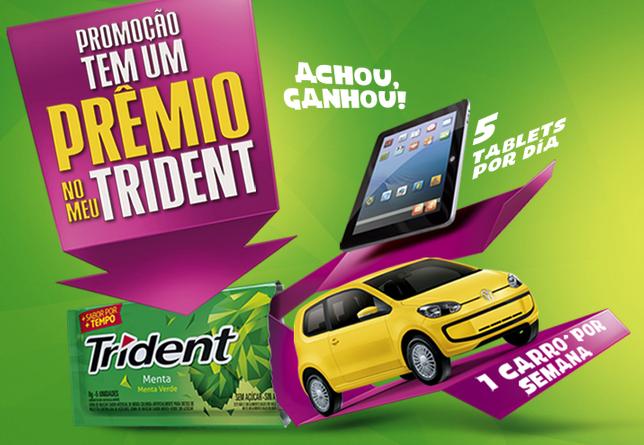 """Promoção Tridente - 'TEM UM PRÊMIO NO MEU TRIDENT"""""""