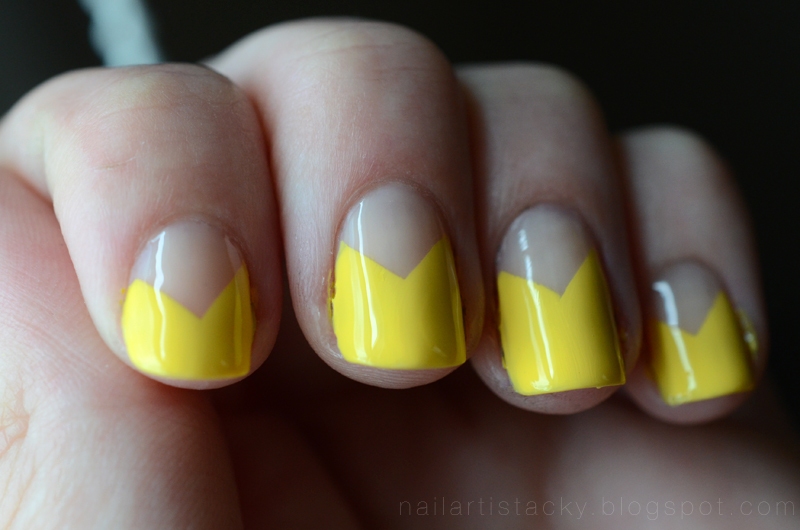 Zoya Pippa Swatch - Yellow Geometric Nail Art