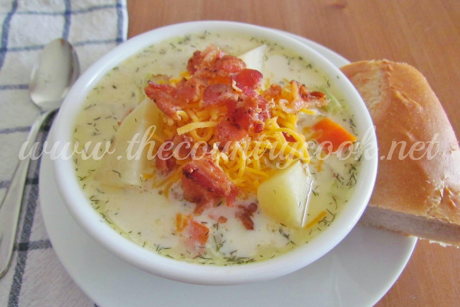 how to cook potato soup