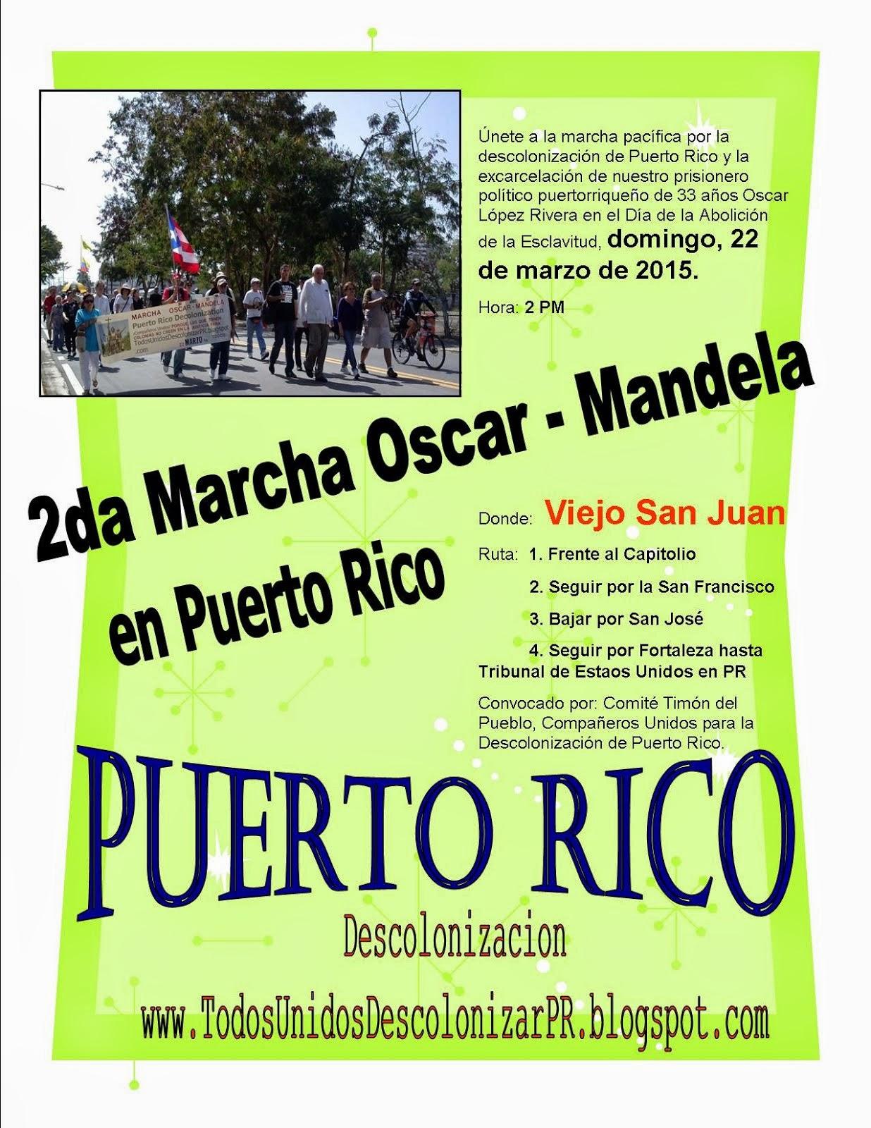 2da Marcha Oscar - Mandela en Puerto Rico 2015