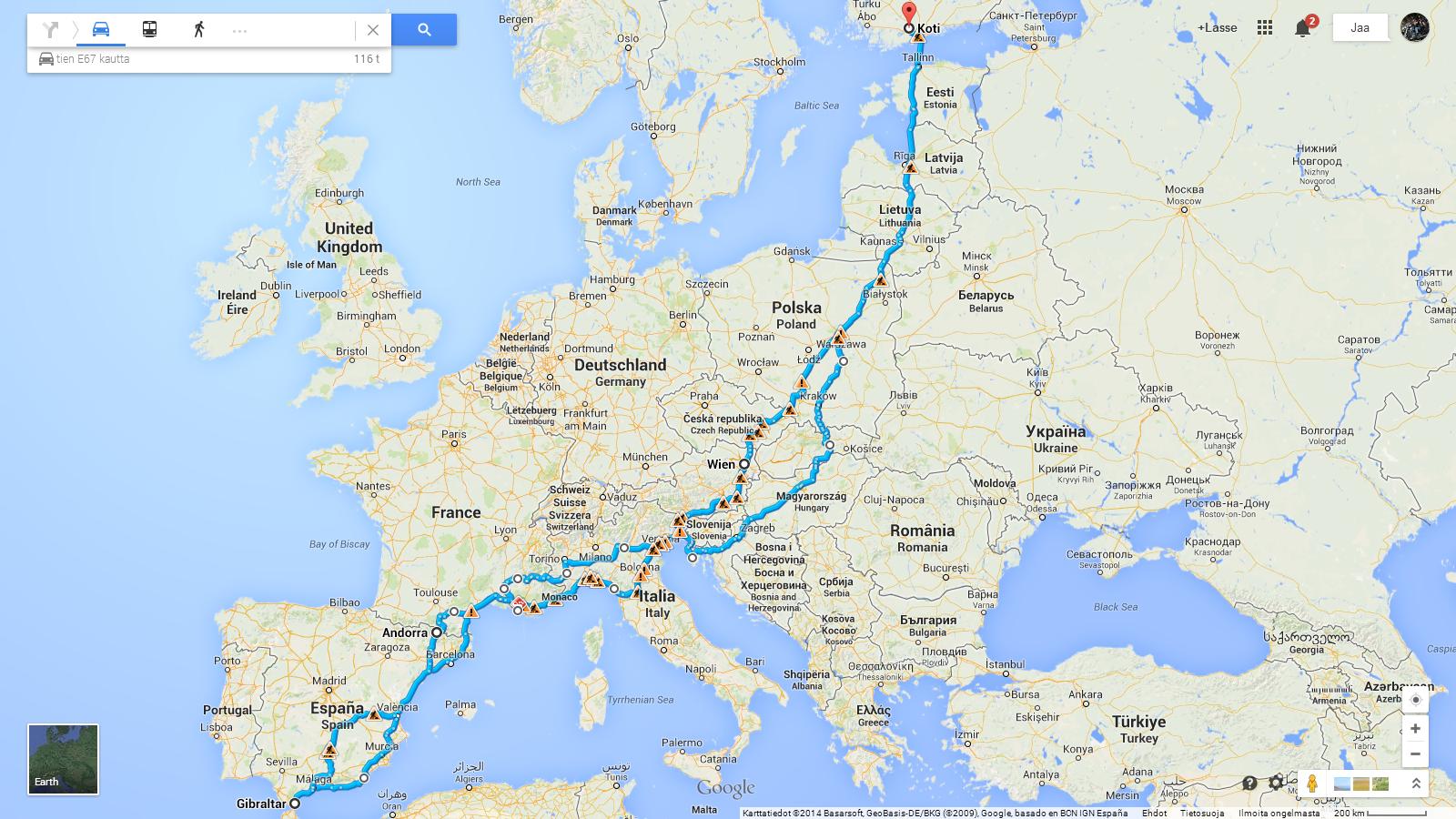 Finland-Gibraltar-Finland 2014 (22 Days and 10 000 km)