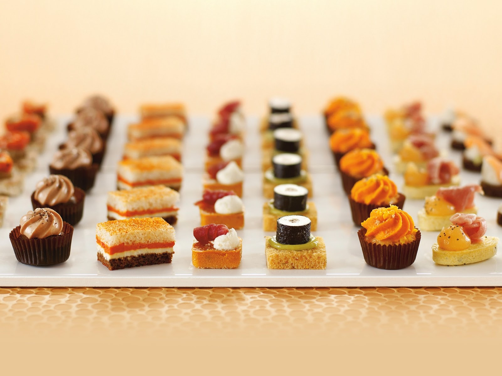 Luxury authentic french party reception food now selling for Canape dessert ideas