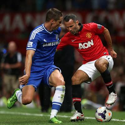 Giggs+Torres Manchester United v Chelsea 2013