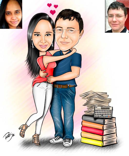 #desenhando #ilustrando #ilustrador #ilustração #desenhista #arte #artista #obra #casal #noivos #aliança #lindos