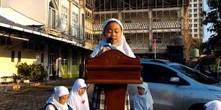 Video: Azra Keisha Armansyah Siswi Kelas 3 Ibnu Katsir Saat Berpidato