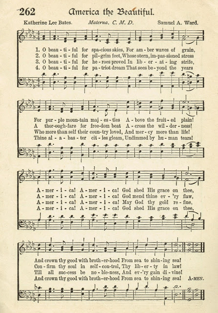 Patriotic Music Printable Page - KnickofTime.net