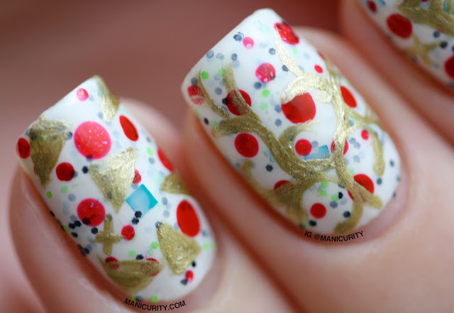 Manicurity | The Digit-al Dozen: Wacky Wrapping Paper Nail Art
