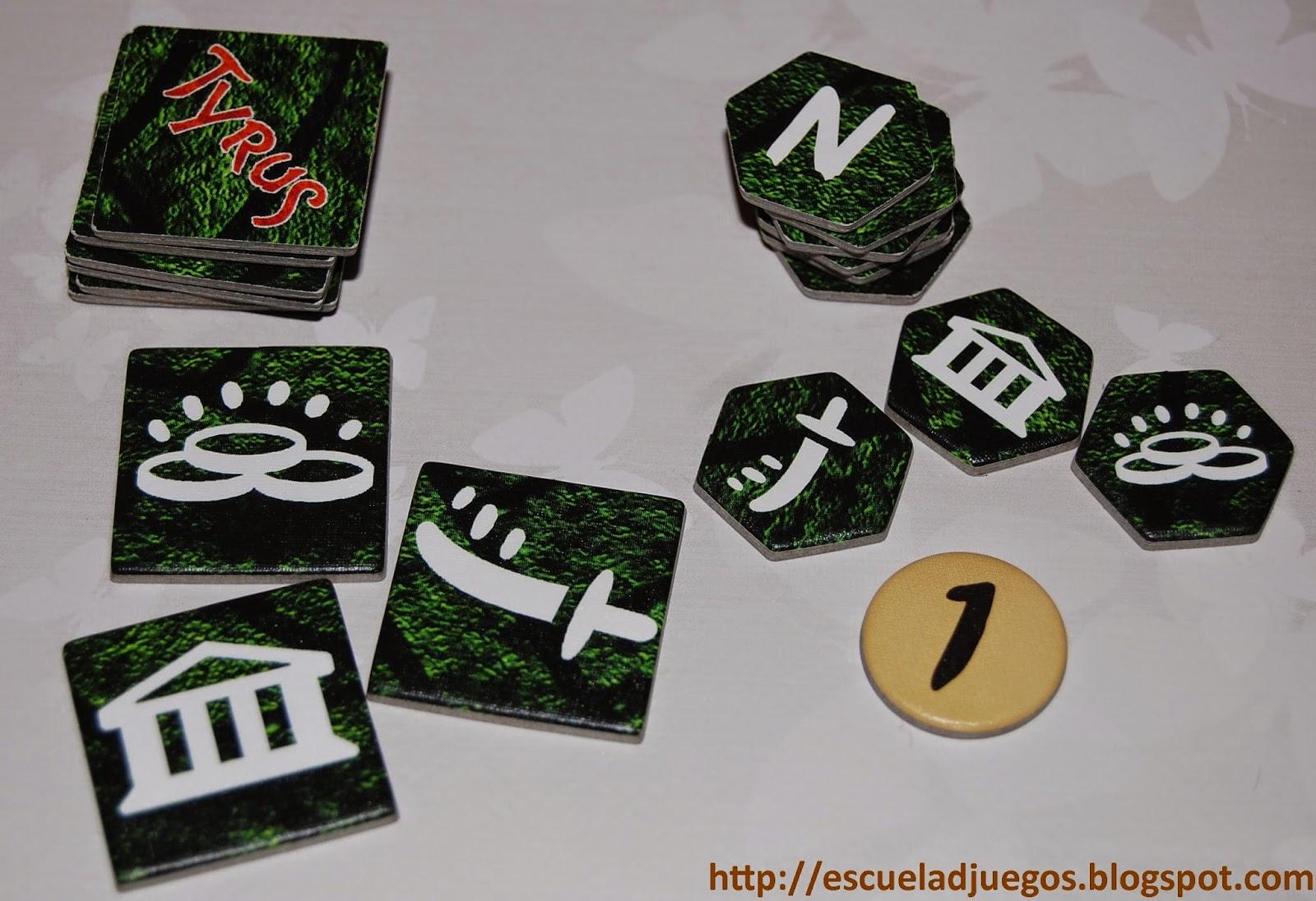 Losetas y tokens de cartón