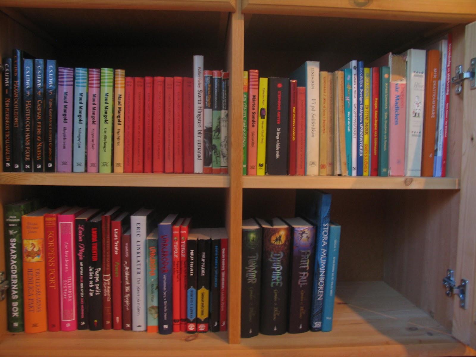 Boklyckan Min bokhylla Färgordning