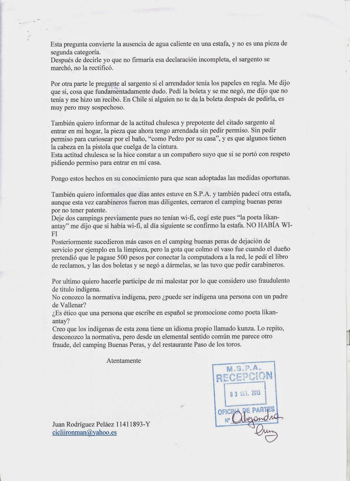 "SEGUNDOS DIAS DE SAN PEDRO Y SUBIDA A HITO CAJÃ""N."