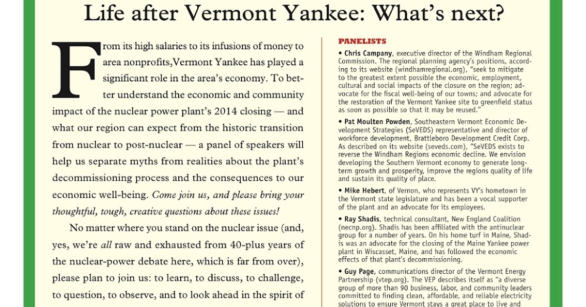 53 invitation for roundtable discussion discussion invitation for discussion roundtable for invitation the yankee nuclear yes of rowe yankee worker vermont a soul stopboris Gallery