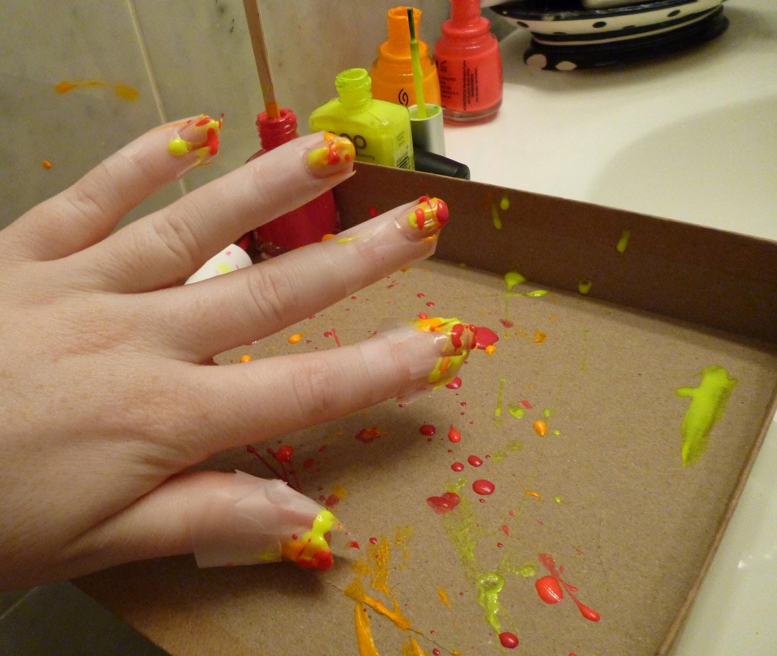 Nail polish designs with tape Diy nail art ideas step by step