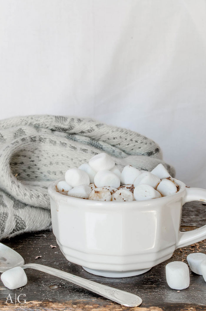 A must-save recipe for homemade hot cocoa mix, including a peanut butter hot chocolate version.  ||  www.andersonandgrant.com