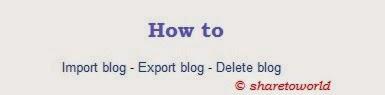 Export - Import blog