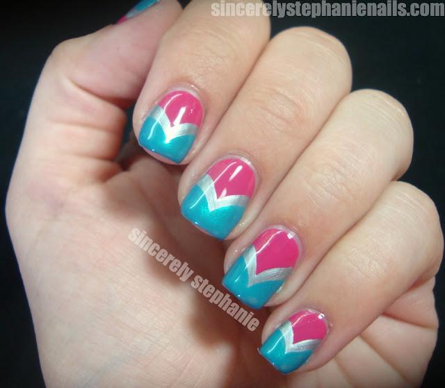 fishtail chevron nail art