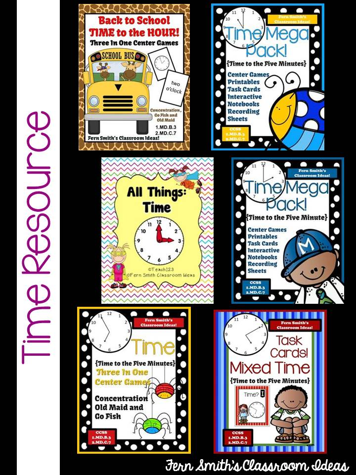 Fern Smith's Classroom Ideas Time Resources at TeachersPayTeachers!