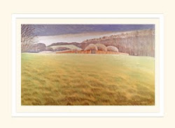 View into the Meadow Poole Wood greeting card
