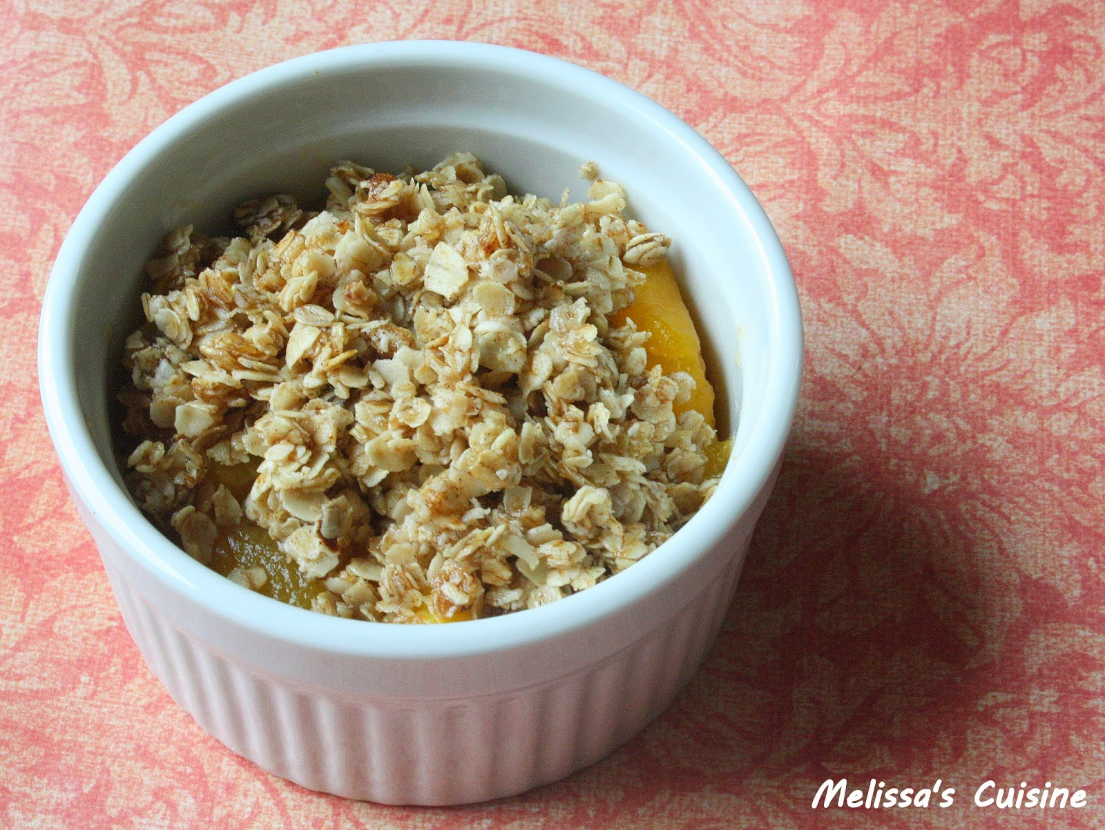 Melissa's Cuisine: Single Serving Clean Eating Peach Crisp
