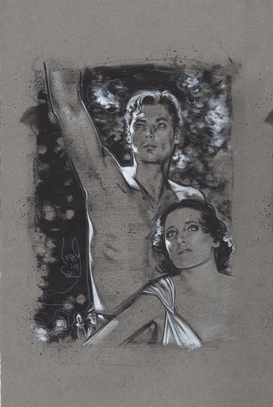 Johnny Weissmuller as Tarzan, Artwork is Copyright © 2014 Jeff Lafferty