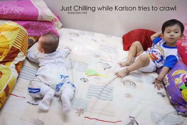 Baby Karlson have yet to master the art of crawling