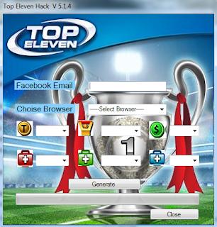 Top Eleven Tokens Hack terbaru 2013
