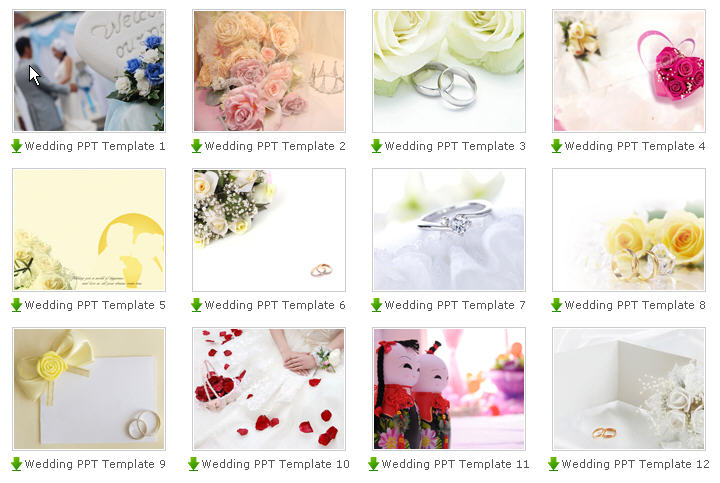 Here are also some Free PowerPoint Wedding Templates