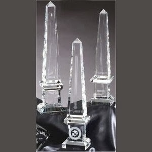 Beveled Crystal Obelisk Award (Large)