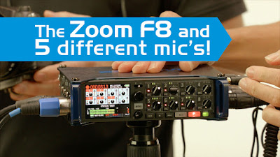 The Zoom F8 and 5 different mics
