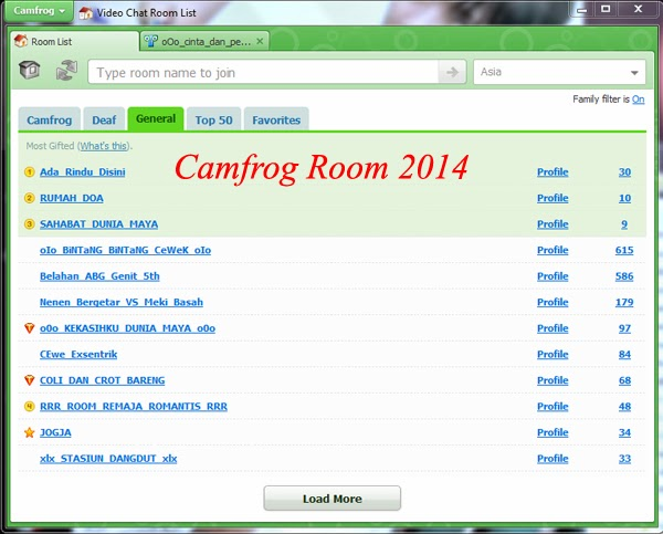 List Room Camfrog 2014