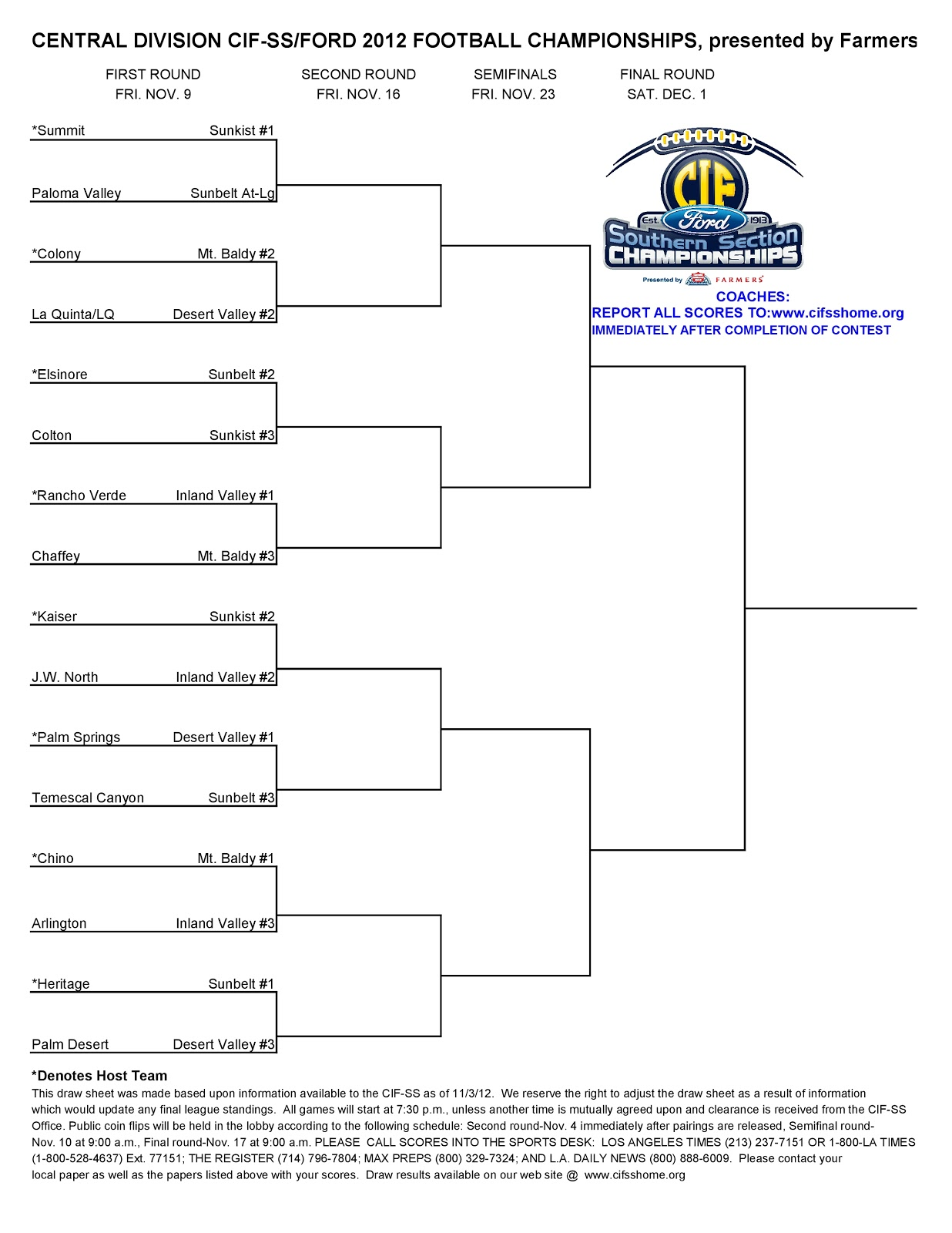 2014 division ii, division iii, and naia football playoff bracket