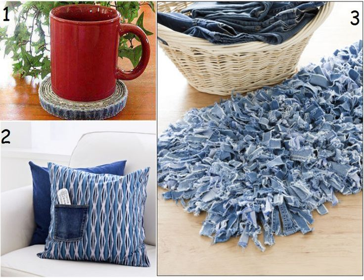 The art of up cycling craft ideas with old jeans for Denim craft projects