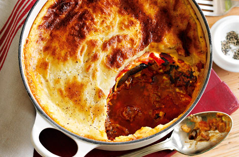 Beef Moussaka With Tomatoes Recipe