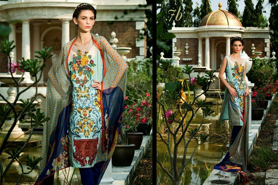 Latest Pakistani luxury lawn collection 2015