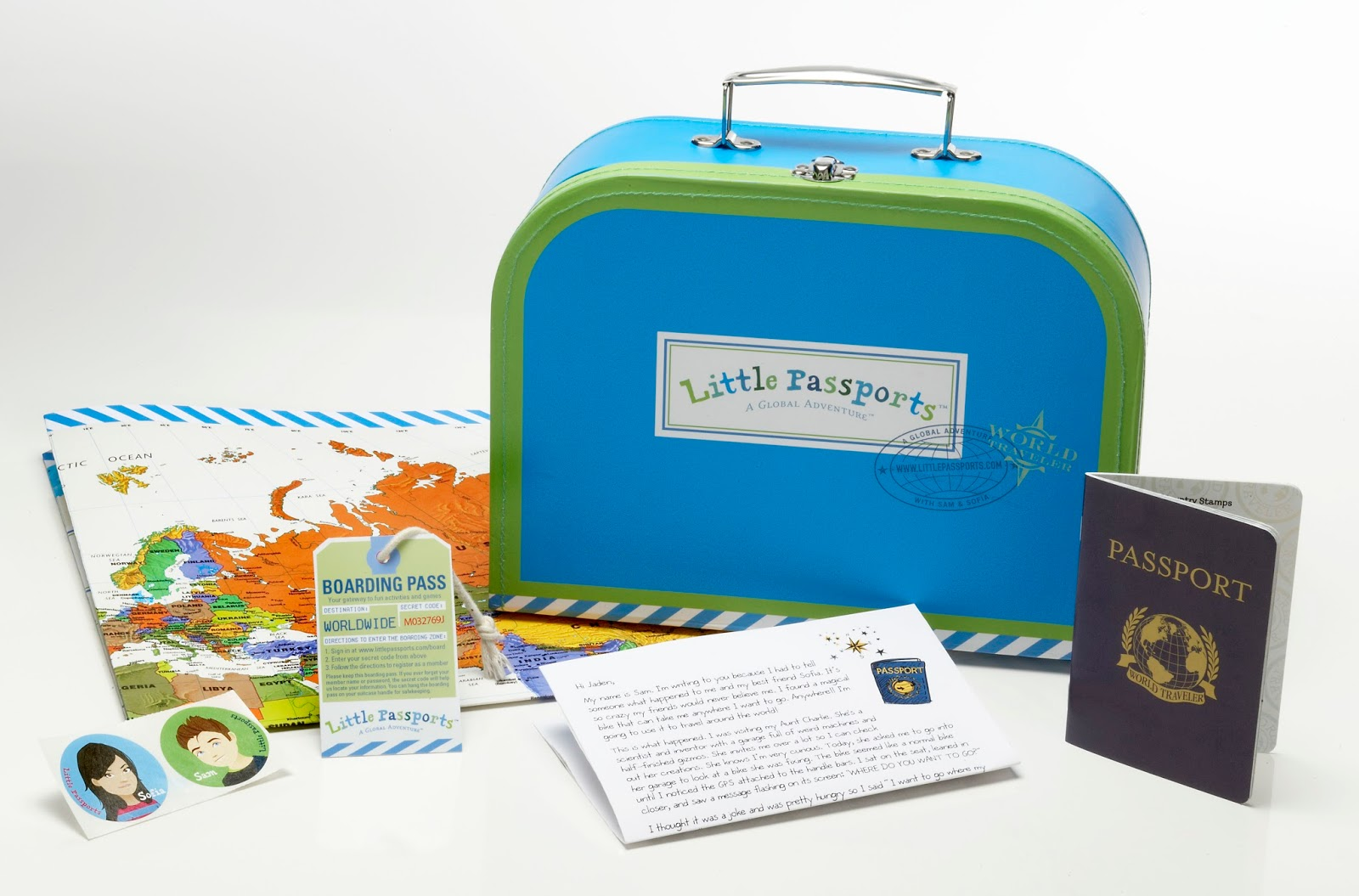 Example of Little Passports package
