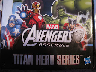 "Marvel 12"" Titan Heroes Avengers Action Figures box art."