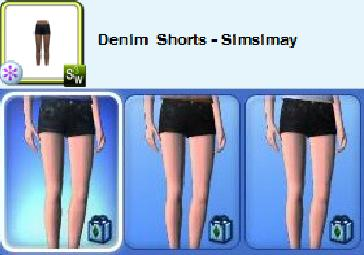 bad size denim shorts sims 3