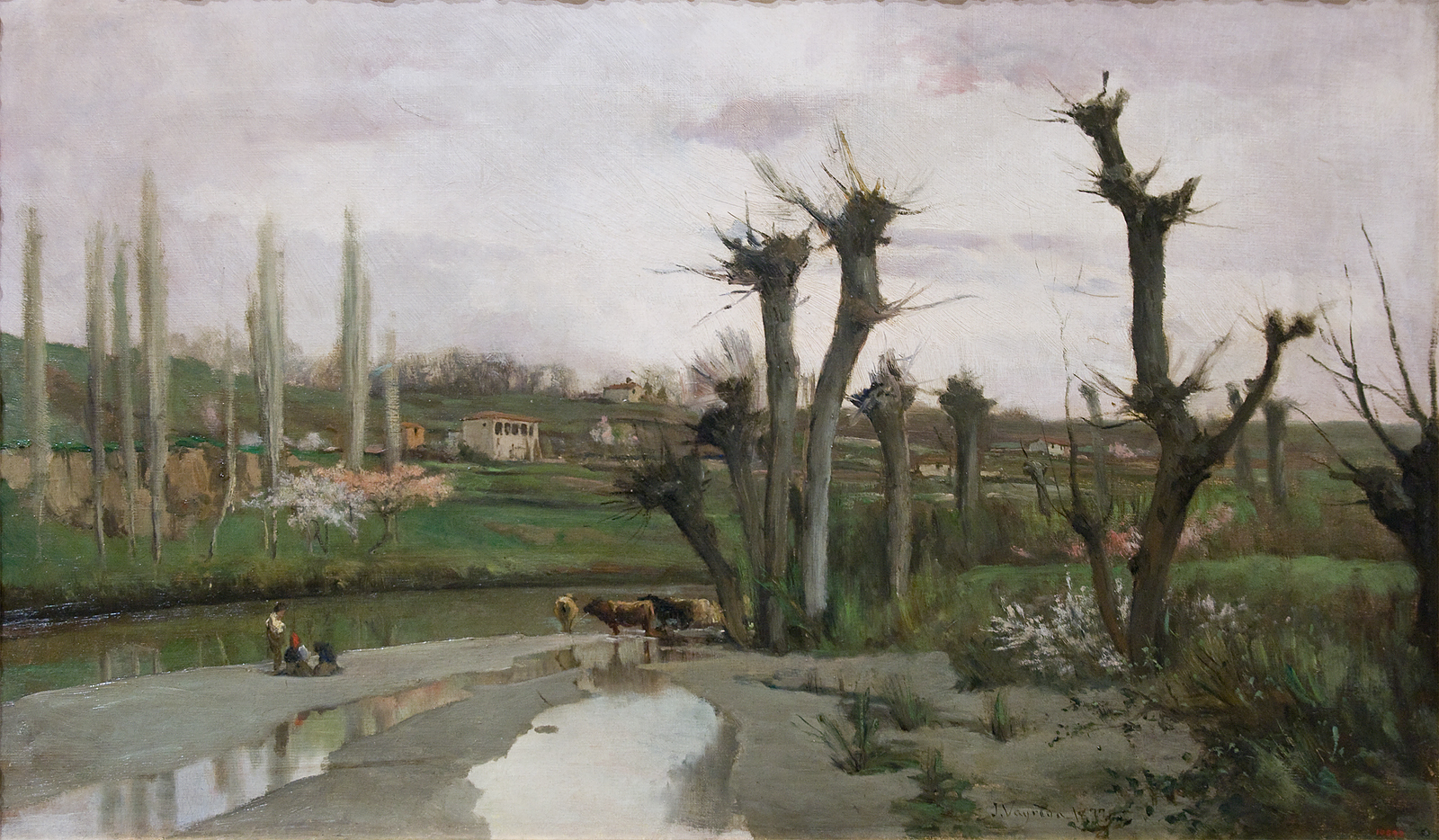 Joaquim vayreda the beginning of spring 80 5 x 48 5 cm