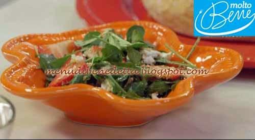 Stecchi di parmigiano con insalata di fragole ricetta Real Time