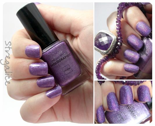Hema Holographic Purple swatch  holo