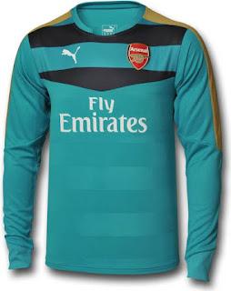 enkosa sport baju bola keeper musim depan Arsenal 2015/2016 Kipet Kit