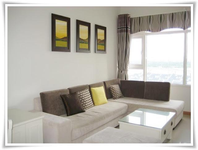 Phòng khách tại căn hộ Saigon Pearl