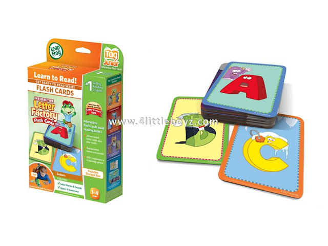 LeapFrog LeapReader Junior Interactive Letter Factory Flash Cards works with Tag Junior