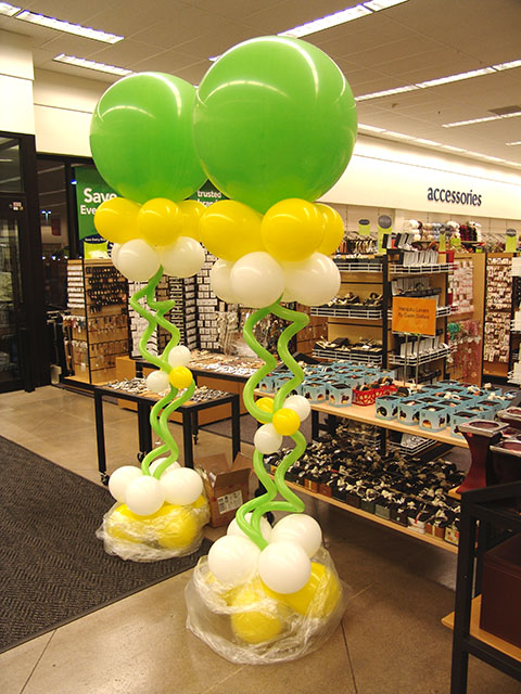 Balloon designs pictures balloon columns for Balloon column decoration