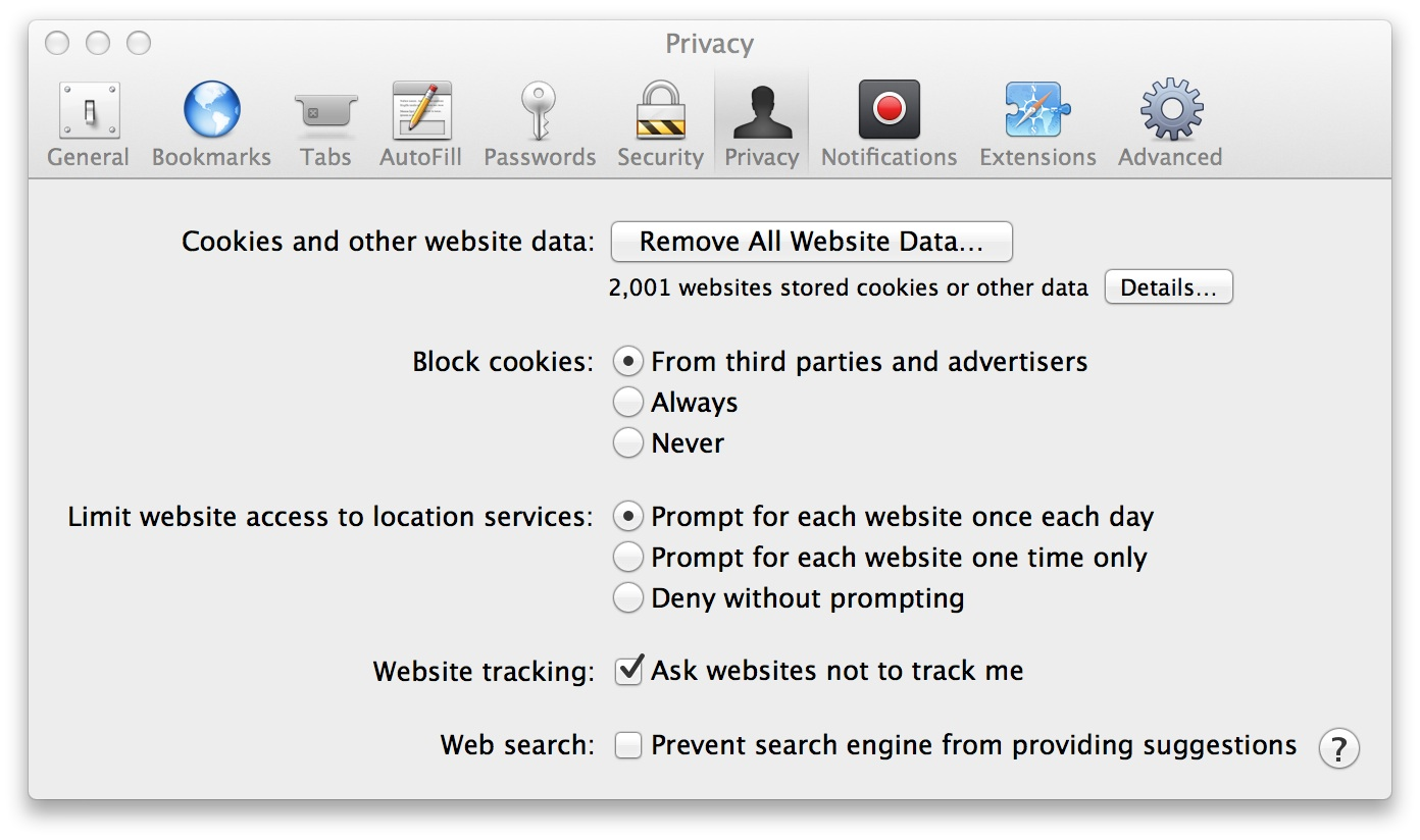 Safari Settings Online Privacy On The Mac, Part One: Safari Reflections How  To Enable