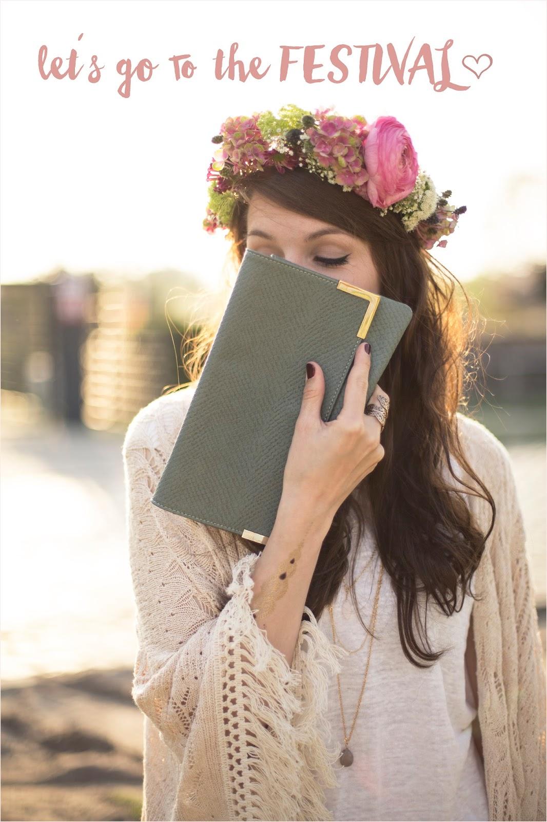 Blumenkranz Flower Crown DIY Outfit
