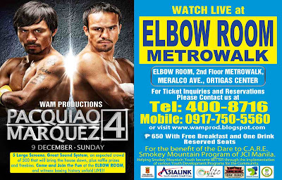 Pacquiao Marquez 4 Live  at the Elbow Room