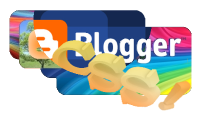 Логотип Blogger и надпись CSS