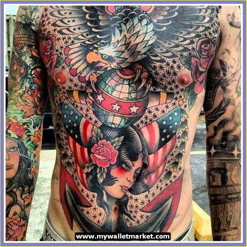 awesome tattoos designs ideas for men and women amazing tattoo designs colorful chest skull for men. Black Bedroom Furniture Sets. Home Design Ideas