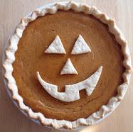 jack-o-lantern pumpkin pie