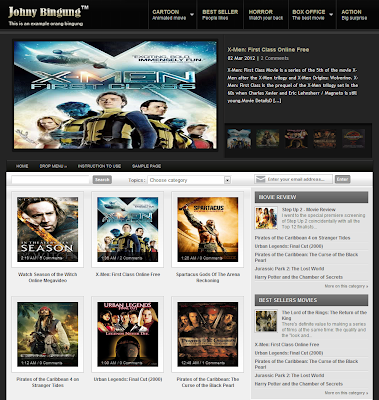 Movie Review Blogger Template